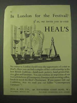 1951 Heal & Son Ltd Ad - In London for the Festival?