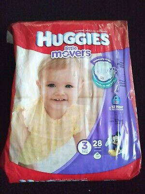 Huggies Little Movers Diapers Size 3 (16-28 lbs.) 28 Count