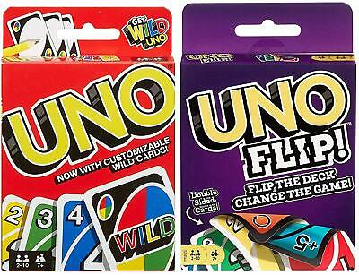 UNO & UNO FLIP Card Game Combo Pack of 2 by MATTEL