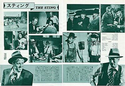PAUL NEWMAN ROBERT REDFORD The Sting 1974 Japan Picture Clippings 2-SHEETS me/t