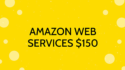 AWS Amazon Web Services Educate Credit Code $150 (11-30-2021)