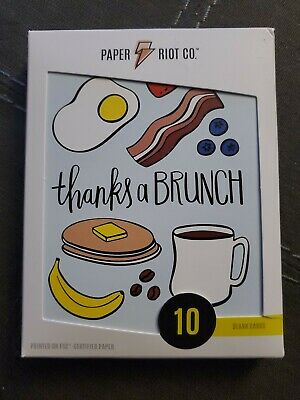 Paper Riot Co Thanks a Brunch Thank You Card 1 Pack of 10