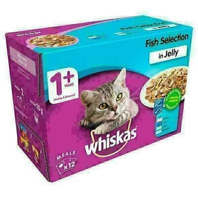 Whiskas Fish Selection in Jelly Wet Adult 1+ 12 x 100g (price marked)