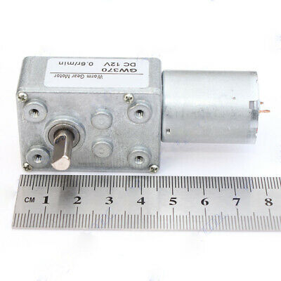 DC 12V 24V Worm Gear Motor 0.6RPM-180RPM Low Speed Motor Robot RC Car Tank GW370