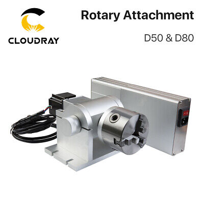 Rotary Attachment for Smart Fiber Laser Marking Machine Max Working Dia.50 80mm