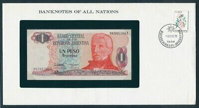 """World: 1968-88 Banknote/Stamp Cover """"SET 10 DIFFERENT"""" Banknotes of all Nations"""