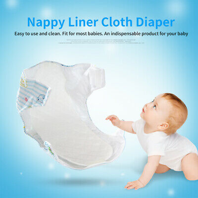 10Pcs Baby Cotton Cloth Diapers Reusable Inserts Liners 3/6 Layers Newborn Nappy