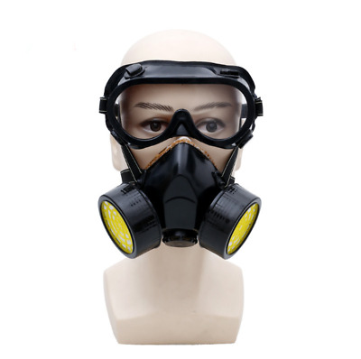 Anti Gas Mask Survival Safety Respiratory Emergency Double Filter Face Protect *