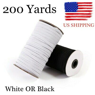 200 Yards Elastic Rope Band Rubber Tape Ear Hanging Face DIY Making Sewing