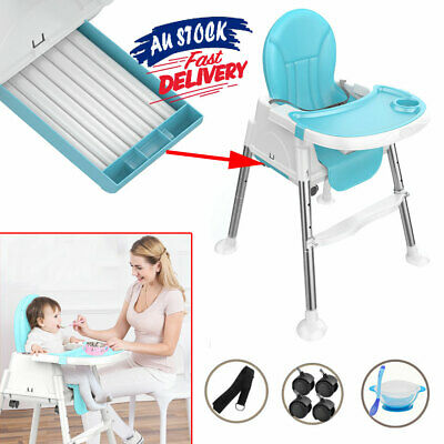 3 in 1 Seat High Chair Dining Infant Durable Child Baby Highchair Feeding ACB#
