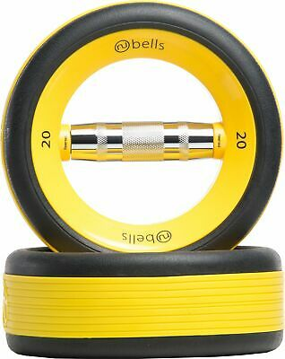 NuFit NuBells Dumbbells Free Weights Gym Fitness Workout Exercise YELLOW - New