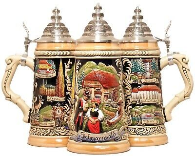 LE German Beer Stein Black Forest Schwarzwald .5L ONE Mug Made in Germany New