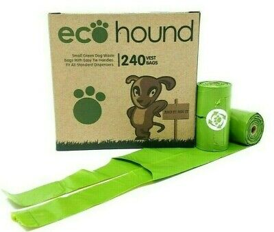Ecohound ECO Dog Poo Bags OXO- Biodegradable Waste Bags HANDLES 1 BOX- 240 BAGS!