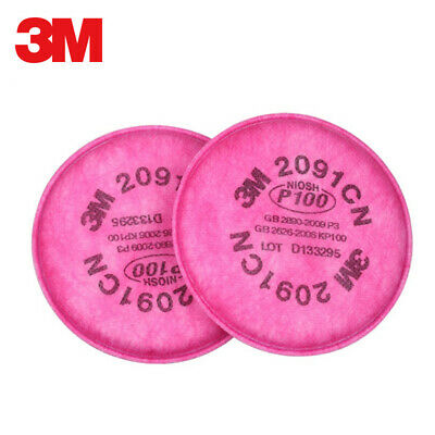 3M 2091 Filter for 3M 6200 6500 6502 7500 Half Facepiece Respiratory Particulate