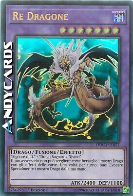 RE DRAGONE • (King Dragun) • Ultra R • DUOV IT077 • Yugioh! • ANDYCARDS