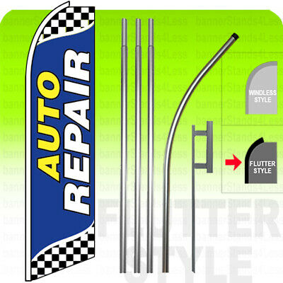 Day spa Tanning Open King Swooper Feather Flag Sign Kit with Pole and Ground Spike Pack of 3