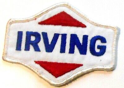 "Irving Gasoline Patch Embroidered Oil 3-1/2"" inches"
