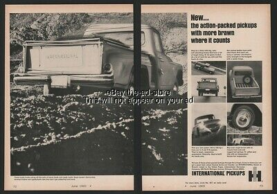 1965 International Harvester IH Farm Pickup Truck Tailgate 2 Page Magazine Ad