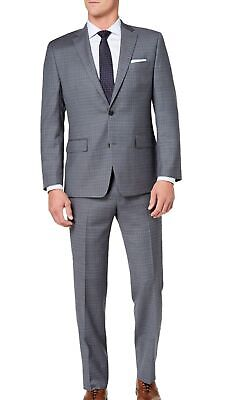Michael Kors Mens Suit Gray Size 42 Notch-Collar Plaid Two Button Wool $600 151