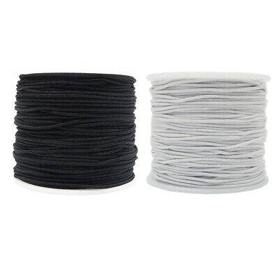 US 0.8mm/1mm Elastic Cord Round Cylindrical Core-spun Hat Sewing Accessories