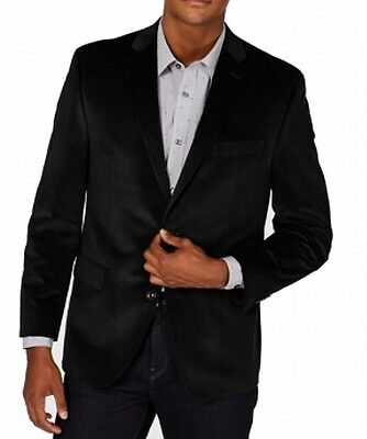 Michael Kors Mens Suit Black Size 44 Blazer Notch-Collar Two Button $295 042