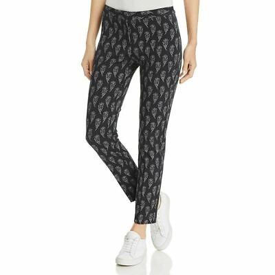 Le Gali Womens Pants Black Size 12 Mid-Rise Straight Leg Stretch $129 294