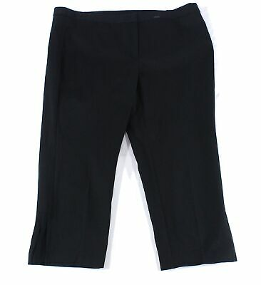 Alfani Womens Pants Black Size 22W Plus Dress Comfort-Waist Stretch $84 136