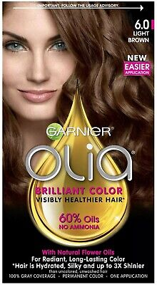 Garnier Olia Ammonia-Free Brilliant Color Oil-Rich Permanent Hair Color, 6.0