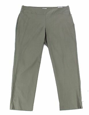 Charter Club Womens Pants Green Size 22W Plus Slim-Leg Pull-On Stretch $79 199