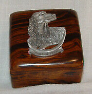 Ironwood Box with Pewter Irish Setter New in Box Trinket Box LAST ONE!