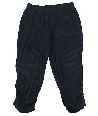 Style & Co. Womens Pants Black Size 22W Plus Ruched Jogger Stretch $59 031