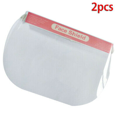 2PCS Clear Safety Face Shield Full Face Cover Anti-saliva Protective Film Tool