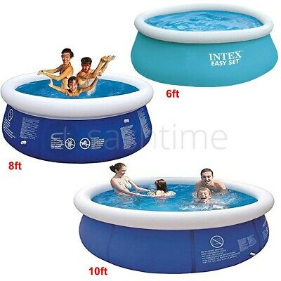 Family Swimming Pool 6ft Garden Outdoor Summer Inflatable Kid Paddling Pools