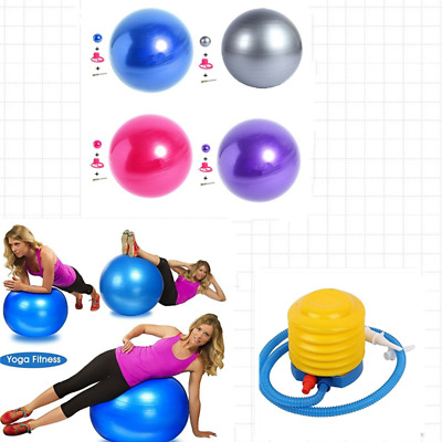65cm Fittex Exercise Gym Ball Yoga Swiss Pregnancy Birthing Anti-Burst With Pump