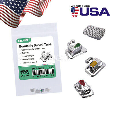 "Dental Orthodontic 2nd Molar Buccal Tube Roth 022"" Bondable Non-Convertible"