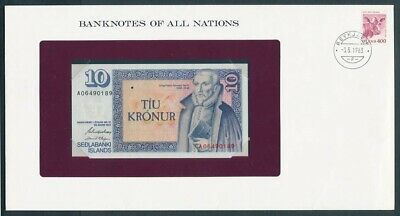 "World: 1968-83 Banknote/Stamp Cover ""SET 10 DIFFERENT"" Banknotes of all Nations"