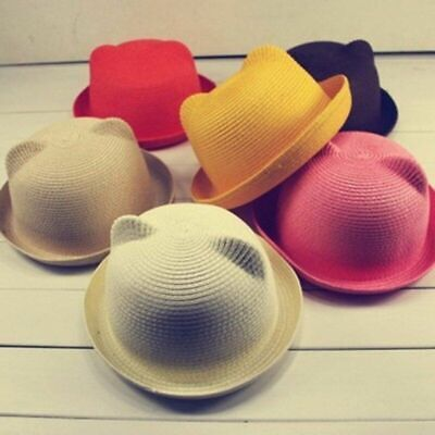 Popular Fashion Parent-child Summer Cap Kids Breathable Straw Hat Solid Girl Hat