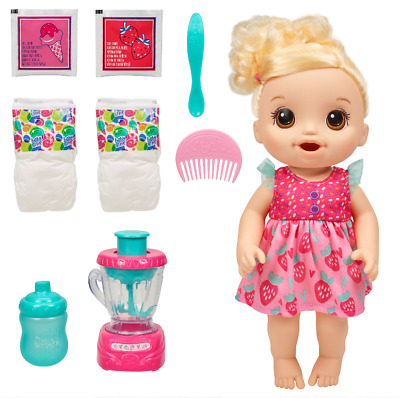 Baby Alive Magical Mixer Baby Doll Strawberry Shake, Blender, Accessories,Drinks