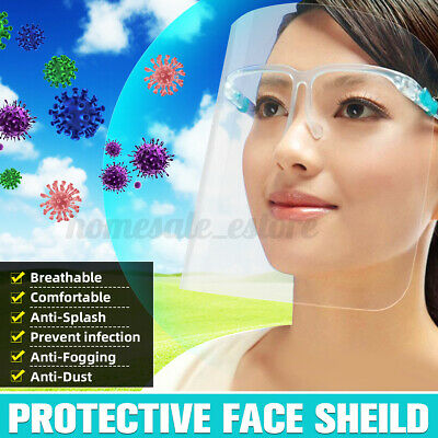 Full Face Protective Shield Safety Isolation Visor Eye Face Protect Shield Clear