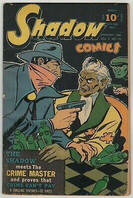 Shadow Comics (1940) Vol 5 #10 Crime Master Chess Board Cover & Story Coll VG