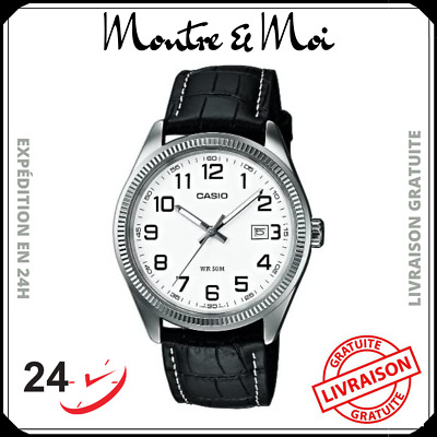 MONTRE NEUF CASIO Homme MTP V004GL 9A Affichage Date Cuir  nQLW5