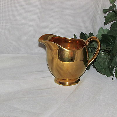 Royal Winton Golden Age Footed Creamer Albans Gold Gilt England Cream Pitcher