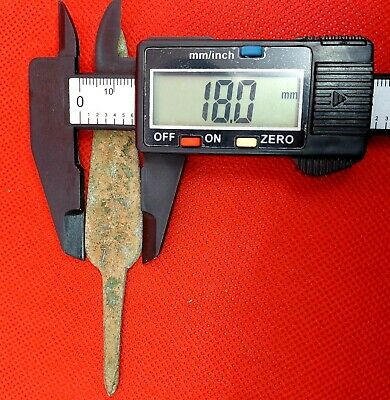 Circa 1500 Bce Ancient Mycenaean Bronze Longshot Barbed Arrowhead