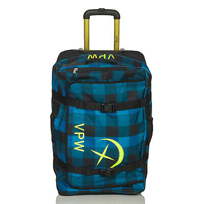 VÖLKL PERFORMANCE WEAR Reise Tasche Koffer Trolley Rolling Duffle Denim 73 L do