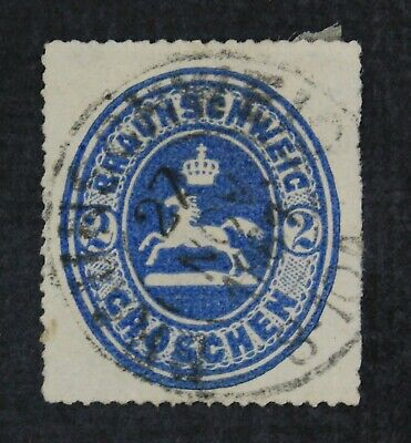 CKStamps: Germany Stamps Collection Brunswick Scott#25 Used Signed