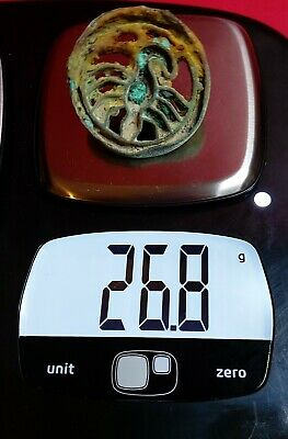Superb Scorpion very rare  ancient Bactrian bronze large stamp seal