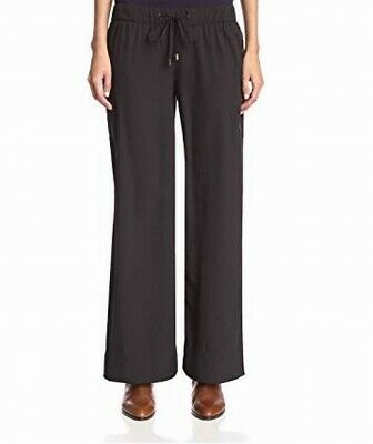 Walter Baker Womens Pants Black Size Large L Sabrina Wide-Leg Pull-On $148 264