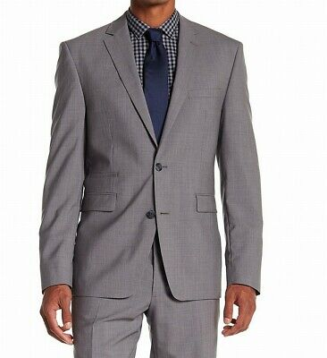 Vince Camuto Mens Blazer Gray Size 42R Slim-Fit Two Button Wool $695- 162