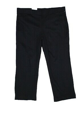 Style & Co. Womens Pants Black Size 18W Plus Straight Cropped Stretch $56 144