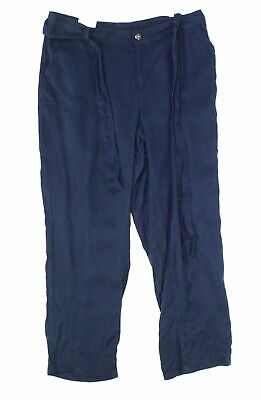 Style & Co. Womens Pants Navy Blue 22W Plus Belted Button-Front Capri $59 081